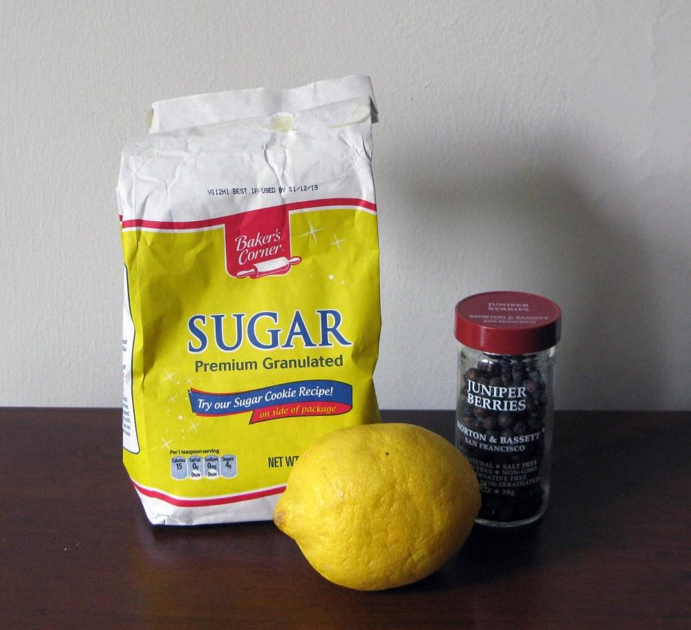 Lemon Juniper Syrup Ingredients