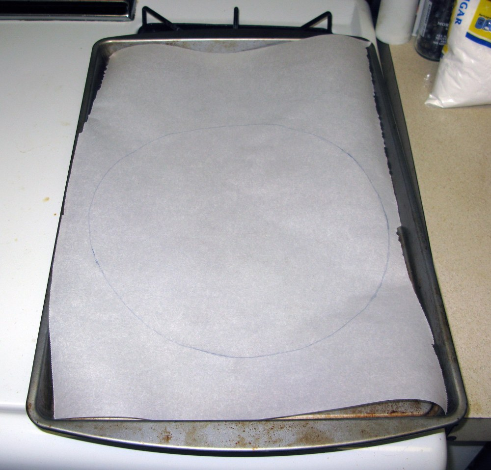 Parchment Paper with Circle