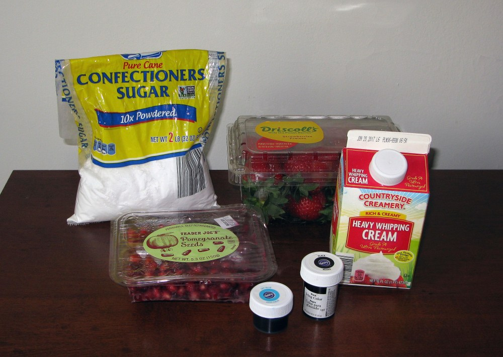 Pavlova Topping Ingredients