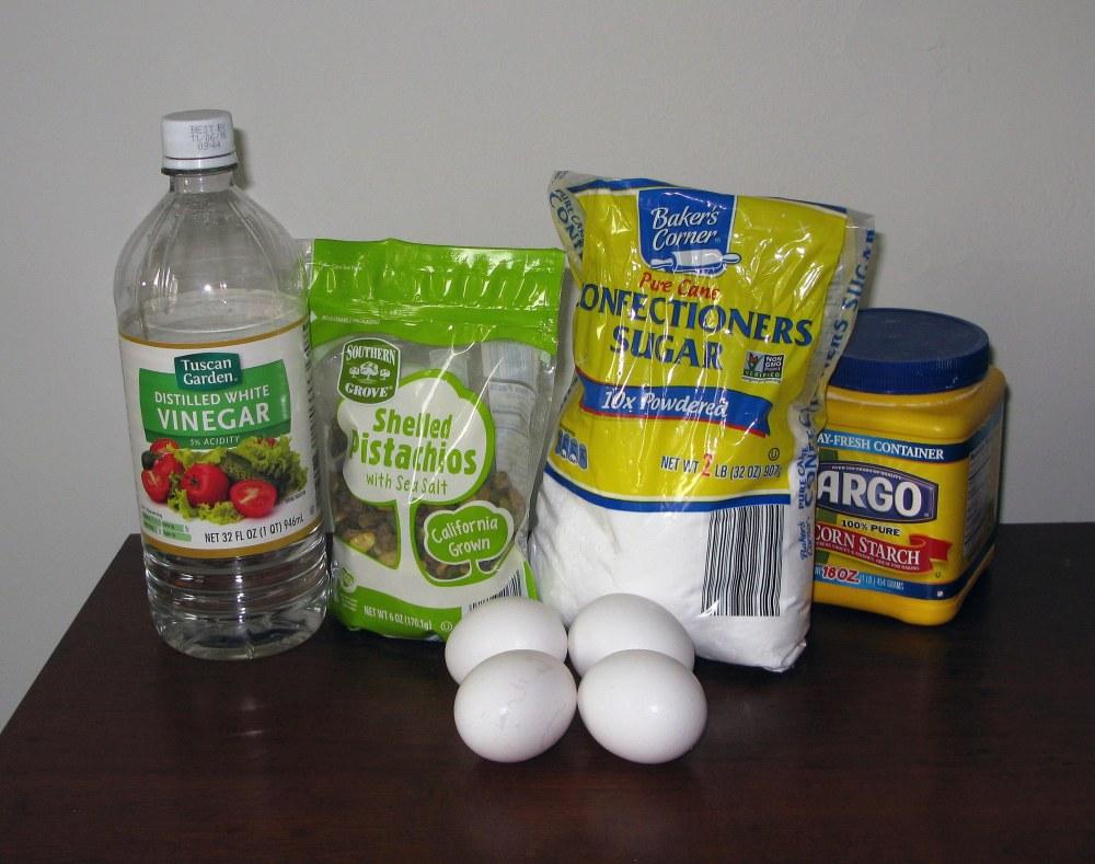 Pistachio Pavlova Ingredients