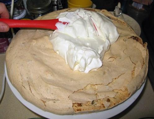 Spreading White Cream Layer