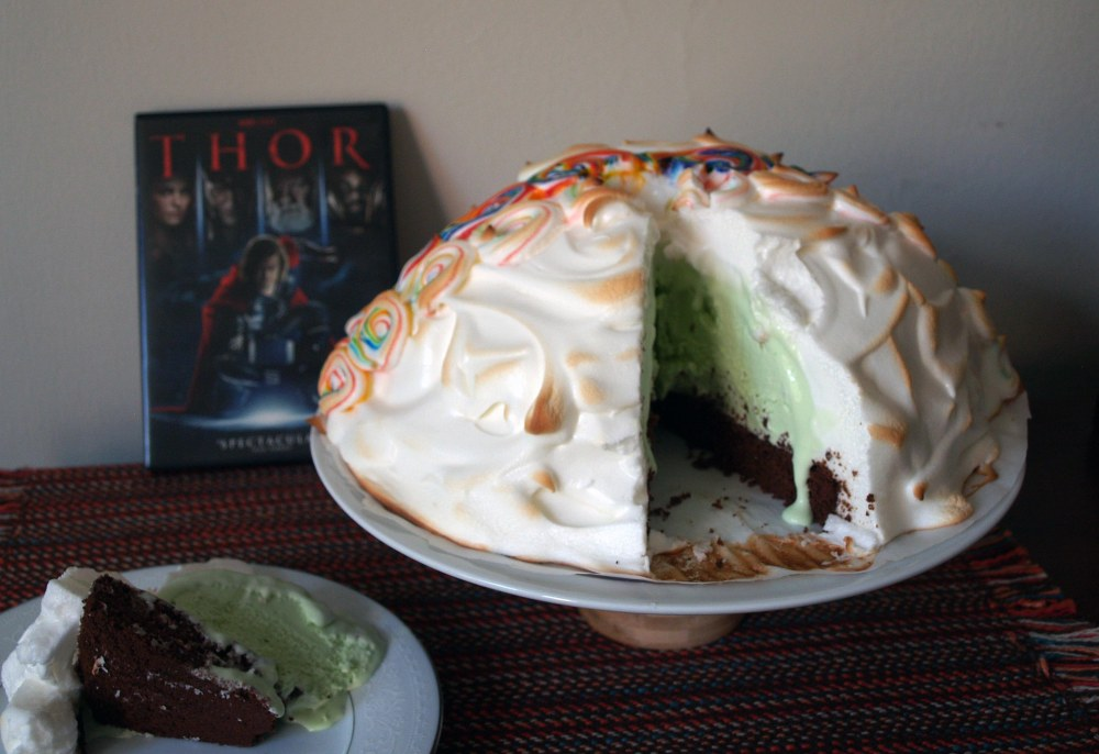 Thor's Mint Chocolate Baked Alaska
