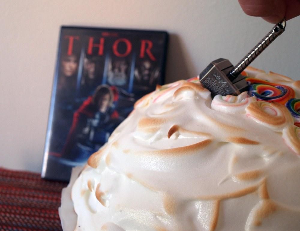 Thor's Mint Chocolate Baked Alaska
