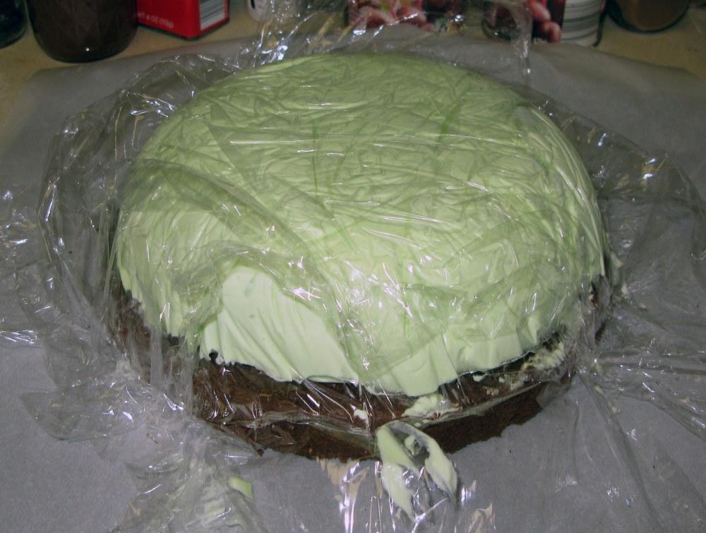 Unmolded Ice Cream and Cake
