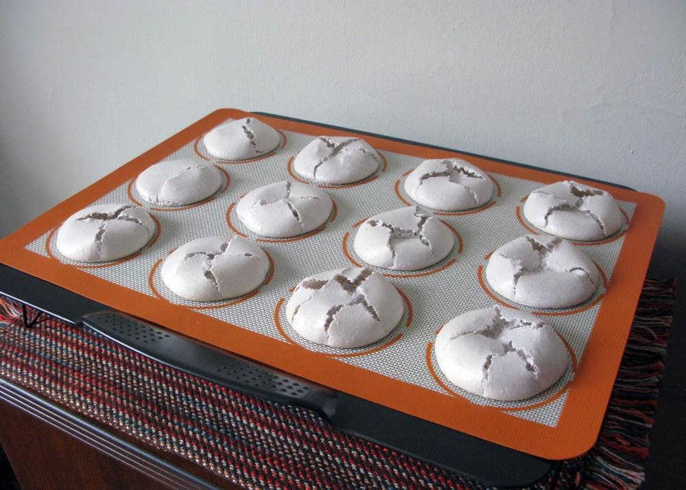 Cracked Macaron Shells