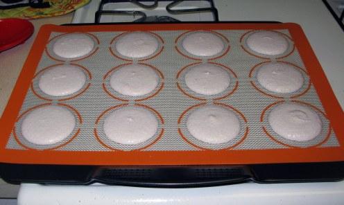 Macaron Shells Before Baking