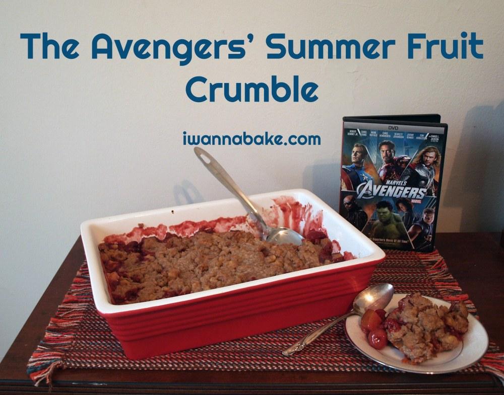 The Avengers' Summer Fruit Crumble