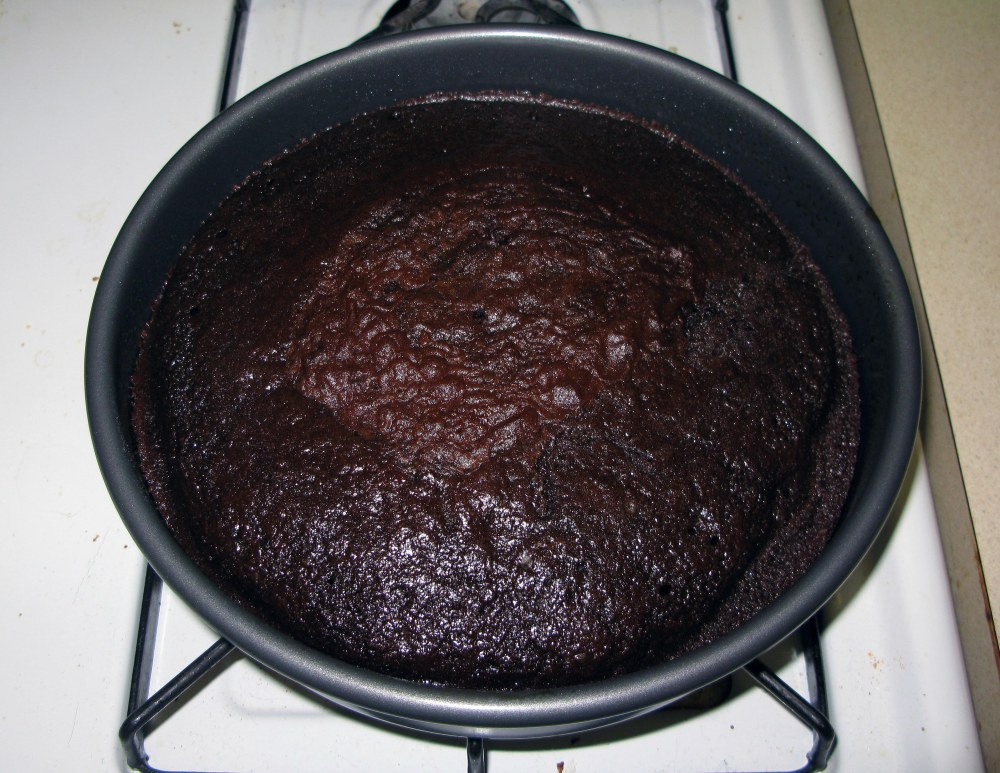 Cinnamon Chocolate Cake After Baking