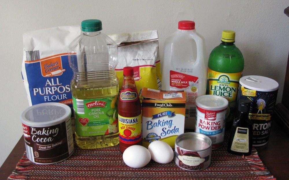 Cinnamon Chocolate Cake Ingredients