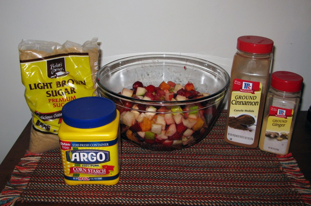 Summer Fruit Crumble Filling Ingredients