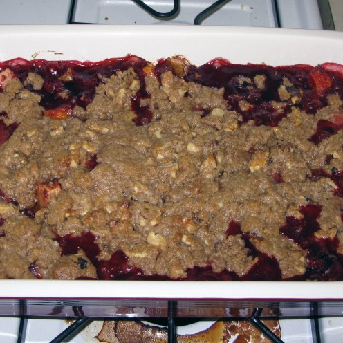 Baked Summer Fruit Crumble