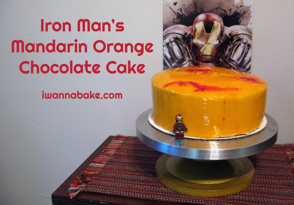 Iron Man's Mandarin Orange Chocolate Cake