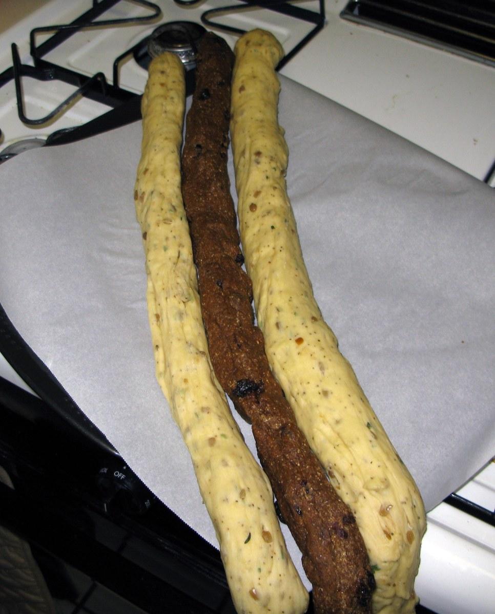 Dough Ropes Before Braiding