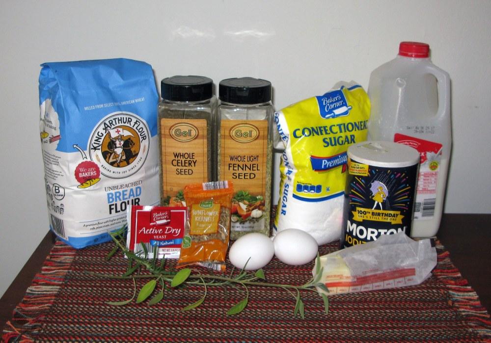 Herb Bread Ingredients