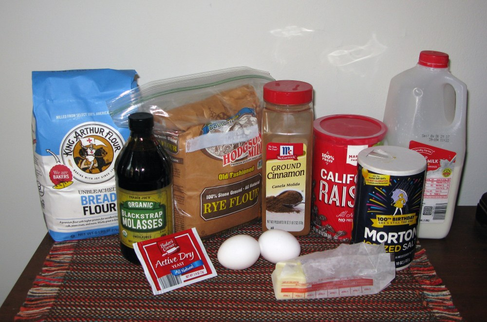 Molasses Bread Ingredients
