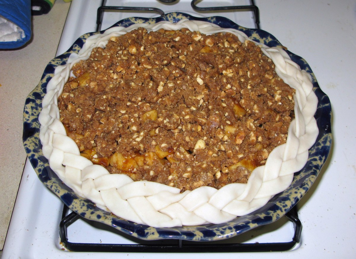 Caramel Apple Pie with Braided Edge