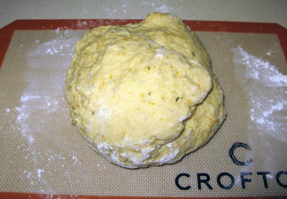 Pan de Muerto Dough After Kneading