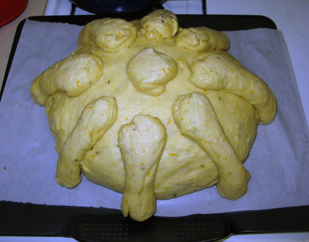 Pan de Muerto Loaf Risen