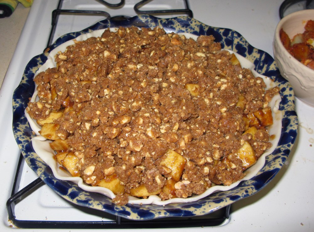 Pie with Crumble Topping