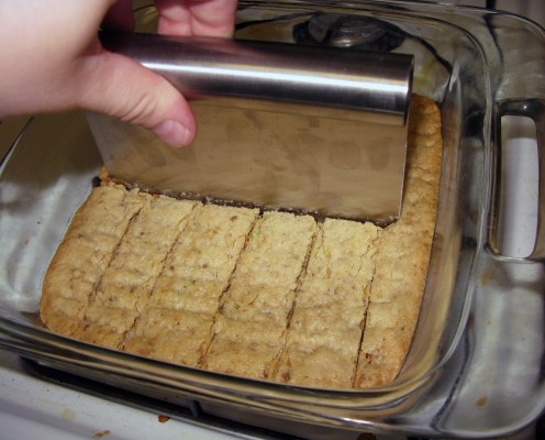 Cutting Shortbread Cookies
