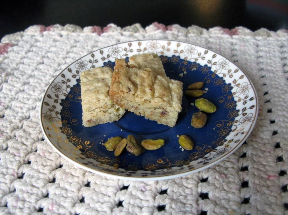 Heath Bar Pistachio Shortbread Cookies
